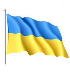 Flag of ukraine vector