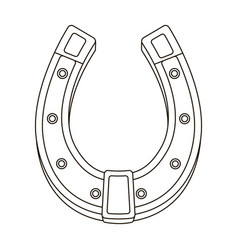 A metal horseshoe for horses shoes for horses to vector