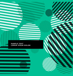 Abstract modern circles with stripes background vector