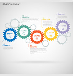Abstractbstract info graphic with design flat gear vector