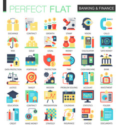 Banking and finance complex flat icon vector