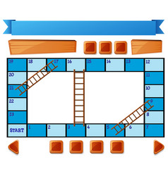 blank blue board game on white vector image