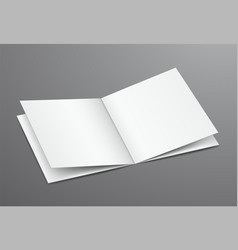 blank white open brochure magazine vector image