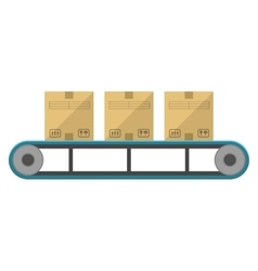 Boxes on the feeder vector image