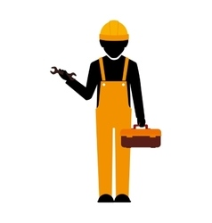 Builder construction worker wrench vector