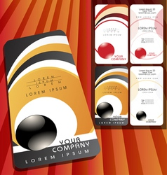 bussines card set vector image vector image