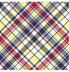 Check plaid tartan fabric texture seamless pattern vector