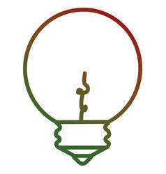 Christmas bulb light icon vector