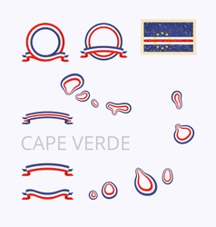 Colors of Cape Verde Cabo Verde vector image