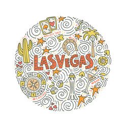 Concept of las vegas vector