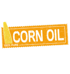 Corn oil grunge rubber stamp vector