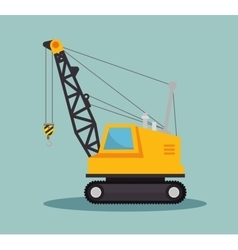 Crane construction icon design vector