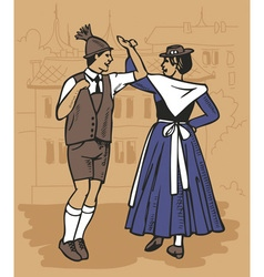 Czech dance polka vector
