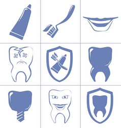 dental vector image vector image