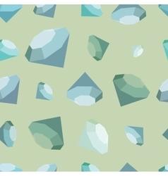 flat diamonds seamless pattern vector image