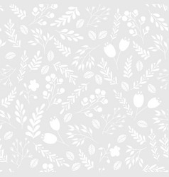 floral seamless pattern with flowers and plants vector image