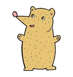 Funny comic cartoon bear vector