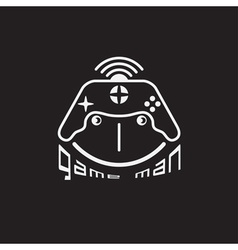 game man concept with game pad design template vector image