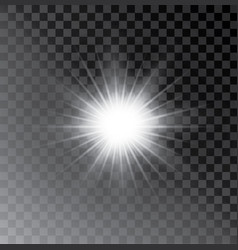 Glow light effect star burst with sparkles vector
