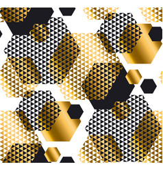 gold and black color elegant repeatable motif with vector image vector image