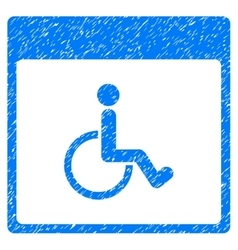 Handicapped calendar page grainy texture icon vector