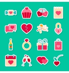 Happy valentines day stickers vector