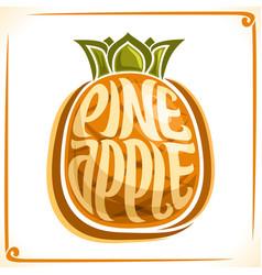 logo for pineapple vector image