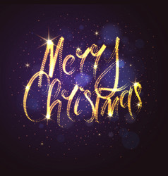 merry christmas bright poster with an inscription vector image