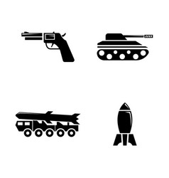 military simple related icons vector image