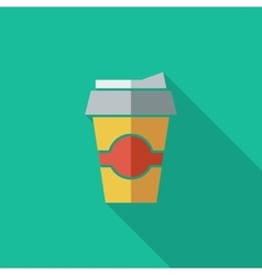Paper fast food cup vector image