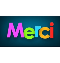 Paper merci sign vector