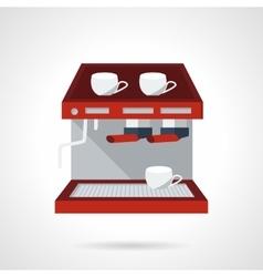 Red espresso machine flat icon vector image vector image