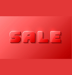sale text banner on the red background vector image