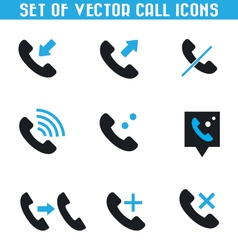 Set of call icons vector image