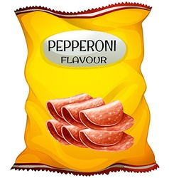 Snack with pepperoni flavor vector image
