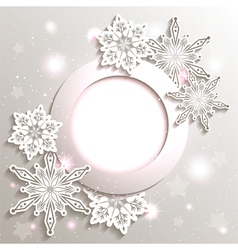 Sparkling Christmas Snowflake Background vector image vector image