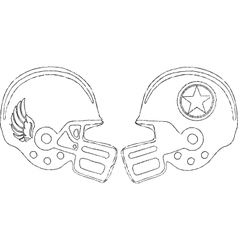 sports helmets vector image
