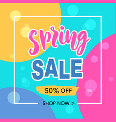 spring sale banner template background vector image vector image