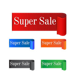 Super sale sticker label on white background vector