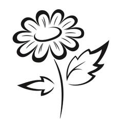 Symbolical flower black pictogram vector