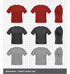 T-shirt set vector