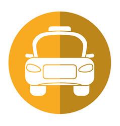 Taxi car public vehicule shadow vector