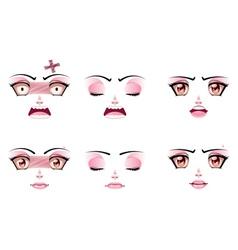 Unhappy Female Face vector image