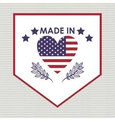 Usa emblematic seal design vector