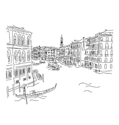 Venice Grand Canal Sketch for your design vector image vector image