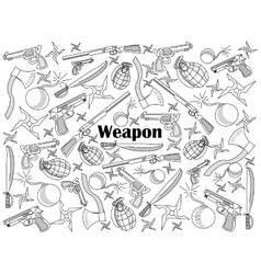 Weapon colorless set vector