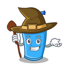 Witch soda drink character cartoon vector