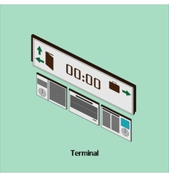 With time to the airport or train station terminal vector