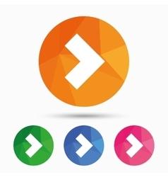 Arrow sign icon next button navigation symbol vector