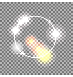 White circle lens flare effect abstract vector